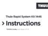 Thule Rapid System Kit 1446 TOYOTA Corolla 4-dr Sedan 07–13