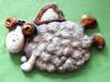 """""""Anioł owieczka"""" z ceramiki -piękna dekoracja do powieszenia"""