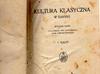Kultura klasyczna w zarysie- Szczepański-1931 rok - miniaturka