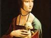 Obraz olejny - Dama z gronostajem 50 x 70 + rama  drewniana + kurier gratis !! - miniaturka