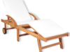 vidaXL Składany leżak z poduszką, drewno tekowe 43054