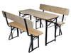 vidaXL Stół biesiadny z 2 ławkami, 118 cm, składane 42205
