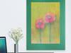 ładny obrazek z kwiatami,łąka szkic,kwiaty rysunek pastele