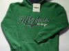 Bluza zielona z kapturem roz.134/140  146/152 158/164