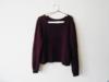 Bordowy burgundowy sweterek pleciony H&M krótki