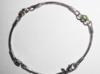 Srebrna bransoletka z seledynowymi cyrkoniami