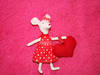 Myszka mysza ala Maileg zabawka maskotka przytulanka kot