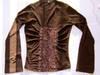 elastyczny brązowy top,brązowa bluzka z koronką,damski top