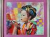 Obraz olejny nowoczesny Gejsza T. Mrowiński z ramą