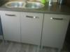Zestaw nowoczesnych mebli kuchennych w połysku