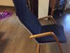 Fotel Ikea Granatowy