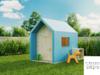 Nowoczesny drewniany domek dla dzieci z drewna Pinegard Blau