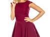 jokastyl sukienka rozkloszowana S M L XL bordowa