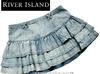 RIVER ISLAND spódnica jeansowa Rihanna NOWA falbanki 38 - miniaturka