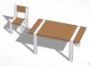 Zestaw mebli do jadalni. stół + 4 krzesła.