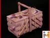 Duża Drewniana Niciarka ręcznie malowana, Niciak