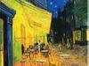Obraz olejny  - Taras kawiarni w nocy+ rama  drewniana gratis