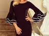 sukienka z hiszpańskimi rękawkami CZARNA S M L XL