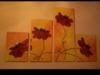 obraz w 4 częściach nowoczesny maki - miniaturka