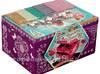 Szkatułka Pudełko na Biżuterię do Ozdabiania Mozaika Naklejk
