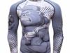 Koszulka Tshirt Termoaktywna Rashguard MMA Siłownia Małpa XL