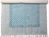 Dywan Bawełniany 90 x 150 cm niebieski ATRAKCYJNA CENA