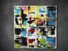 """Obraz abstrakcyjny """"Kwadratowy zgiełk"""" - akryl - 100x100"""