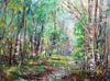 """obraz olejny """"Wiosenne wspomnienie"""" K.Komarnicki, 50x60"""