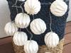 Lampki LED 10szt origami Girlanda świetlna biała