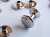 Nity kaletnicze nikiel 10 mm srebrne kryte jednostronnie 100szt. - miniaturka