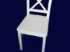 Krzesło, krzesła prowansalskie białe, oparcie krzyżowe, HIT