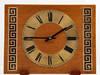 Czechosłowacji zegar kominkowy mid-century modern, lata 70.