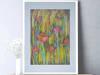 Obrazek do salonu,kolorowy szkic do pokoju,łąka obraz kwiaty