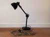 Czarna stołowa lampa techniczna – warsztatowa HIT DO LOFTU