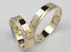Złote obrączki ślubne Goldrun Lux 043