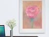 kwiat rysunek do salonu,ładny obrazek z różą,obrazek pastele
