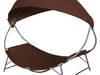 vidaXL Leżak z baldachimem, kolor brązowy 42076