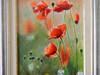 Obraz olejny kwiaty maki na łące Tomasz Mrowiński