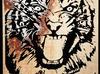 Tygrys - płaskorzeźba