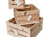 3x Skrzynka dekoracyjna Zestaw Surowe drewno - miniaturka