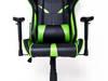 Fotel gamingowy kubełkowy gracza obrotowy GTX Zielony SUPER