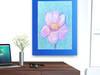 ładny obrazek do pokoju,kwiatek szkic pastelami,ładny rysune