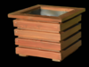 donice drewniane, doniczki  z drewna  8 sztuk komplet - miniaturka