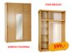 Pojemna szafa 3-drzwiowa z lustrem, stan idealny - miniaturka