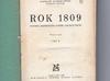 Rok 1809-Wacław Gąsiorowski-1935 rok - miniaturka