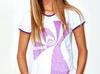 Koszulka / tunika biała z nadrukiem marki B'U - Illusion Obsessed - miniaturka