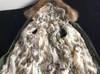 Parka kurtka zimowa obszyta jenotem naturalnym i królikiem