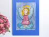 mały aniołek obrazek,rysunek z aniołkiem,aniołek do pokoju