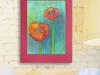 rysunek z dwoma kwiatami,kwiaty obrazek do domu,kwiaty obra