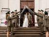 wojskowy szpaler ślubny, szable do szpaleru, wypożyczalnia